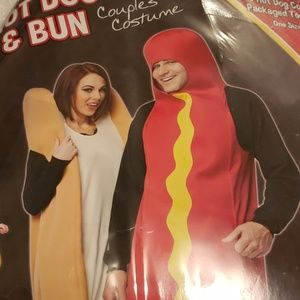 Couples Hot Dog and Bun costume